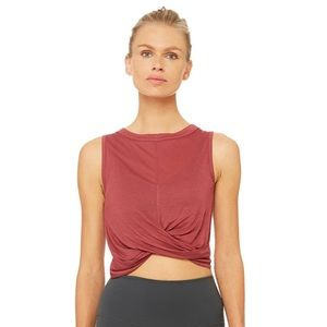 Alo Berry Knotted Cover Tank